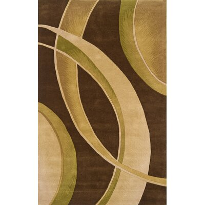 Edge Brown/Beige Area Rug Rug Size: 8' x 11'