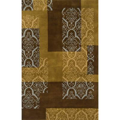Edge Brown/Tan Area Rug Rug Size: 5 x 8
