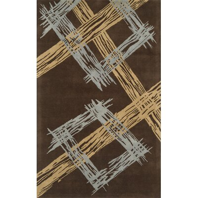 Edge Dark Brown Area Rug Rug Size: 5 x 8