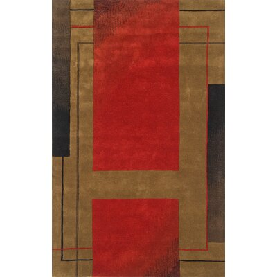 Edge Dark Red Area Rug Rug Size: 5 x 8