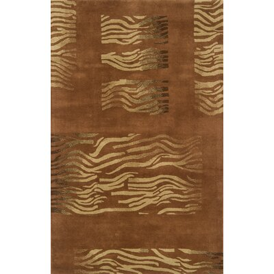 Edge Light Brown Area Rug Rug Size: 5 x 8