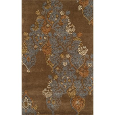 Edge Dark Brown Area Rug Rug Size: 8 x 11