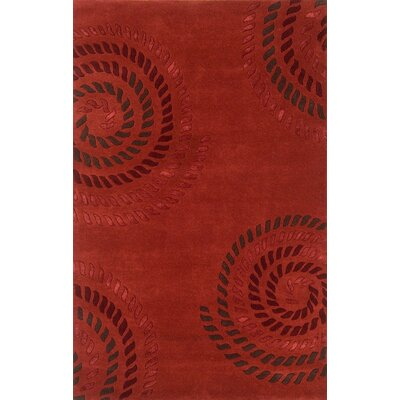 Edge Light Red Area Rug Rug Size: 5 x 8