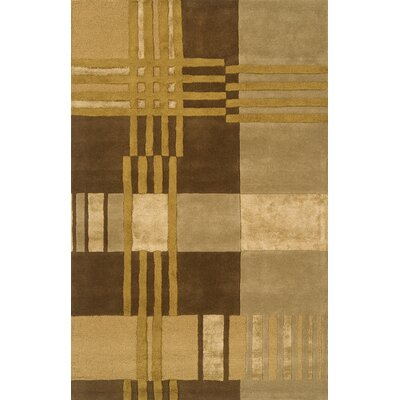 Edge Light Brown Area Rug Rug Size: 8 x 11