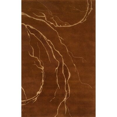 Edge Rust Area Rug Rug Size: 5 x 8