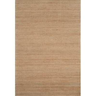 Jute Hand-Woven Tan Area Rug Rug Size: Rectangle 9 x 12