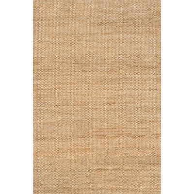 Jute Hand-Woven Natural Area Rug Rug Size: Square 8