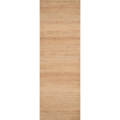 Hand-Woven Jute Natural Area Rug Rug Size: Rectangle 66 x 96