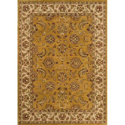 Meadow Breeze Dark Gold Rug Rug Size: Runner 26 x 8