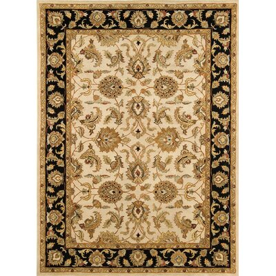 Meadow Breeze Ivory/Black Rug Rug Size: Runner 26 x 8