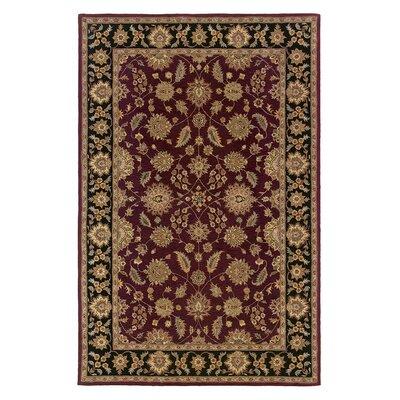 Opulent Burgundy/Brick Silk Area Rug Rug Size: 39 x 59