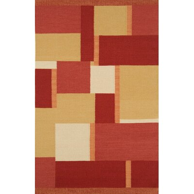 Nouveau Dark Red Area Rug Rug Size: Rectangle 5 x 8
