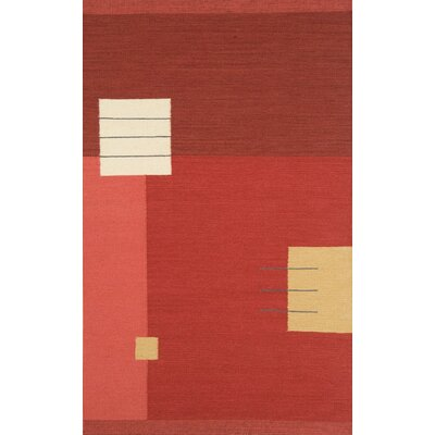 Nouveau Light Red Area Rug Rug Size: 8' x 11'