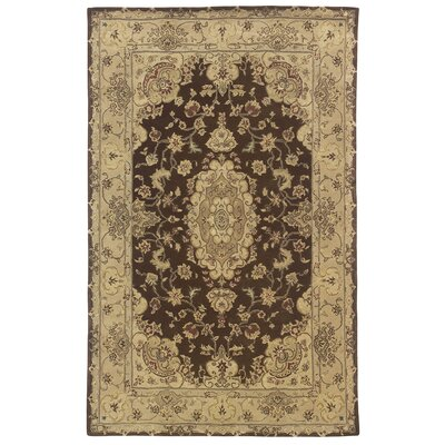 Royal Court Brown/ Beige Area Rug Rug Size: 8 x 11