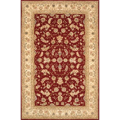 Silk Pearl Red/Beige Area Rug Rug Size: 86 x 116