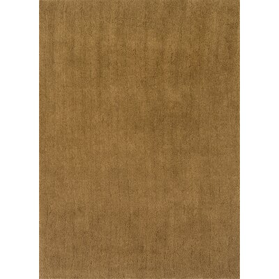 Cloud Gold Shag Area Rug Rug Size: Round 3
