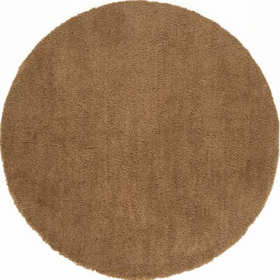 Cloud Gold Shag Area Rug Rug Size: Round 5