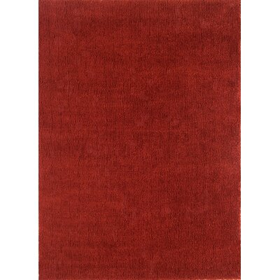Cloud Cranberry Shag Area Rug Rug Size: Round 3