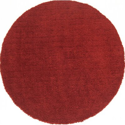 Cloud Cranberry Shag Area Rug Rug Size: Round 5