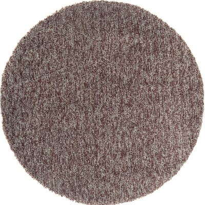 Cloud Chocolate / Blue Area Rug Rug Size: Round 5