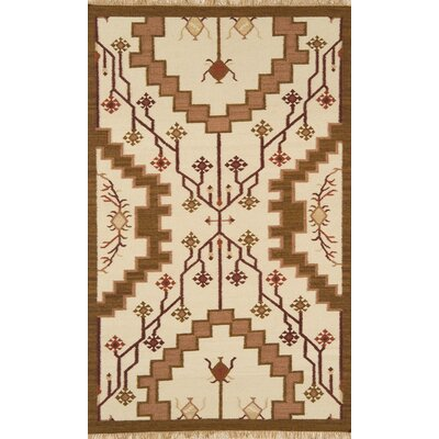 JiJum Light Beige Outdoor Area Rug Rug Size: 5 x 8
