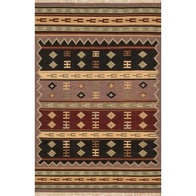 Jijum Knotted Wool Brown Area Rug Rug Size: Rectangle 5 x 8
