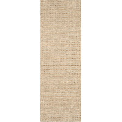 Natures Mix Hand-Woven Natural Area Rug Rug Size: Runner 2 x 6