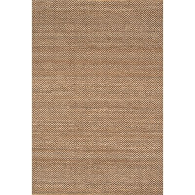 Woven Jute 955 Hand-Woven Natural Area Rug Rug Size: Rectangle 5 x 76