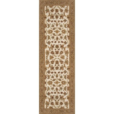 Meadow View Handmade Ivory/Mushroom Area Rug Rug Size: Rectangle 5 x 76