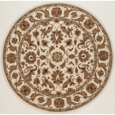 Meadow View Handmade Ivory Area Rug Rug Size: Round 36