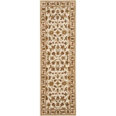 Meadow View Handmade Ivory Area Rug Rug Size: Runner 26 x 8