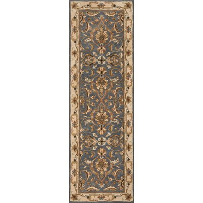 Meadow View Handmade Blue/Beige Area Rug Rug Size: Runner 26 x 8