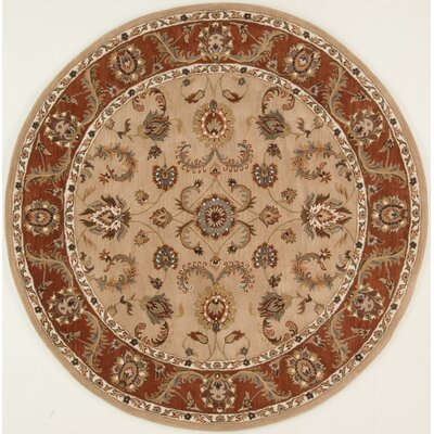 Meadow View Handmade Beige/Rust Area Rug Rug Size: Round 36