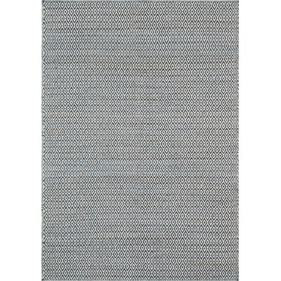 Brooklington Hand-Woven Wool Blue Area Rug Rug Size: 7'6