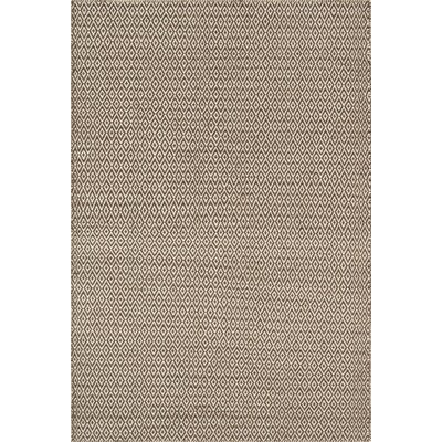 Brooklington Hand-Woven Wool Brown/Gray Area Rug Rug Size: 36 x 56