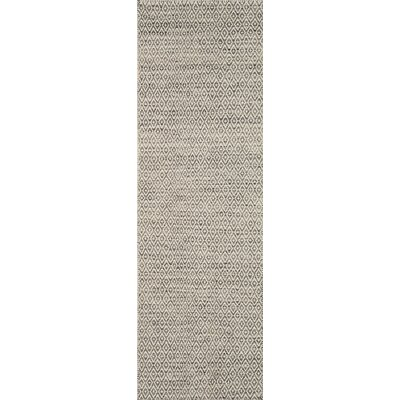 Brooklington Hand-Woven Wool Gray Area Rug Rug Size: Runner 26 x 8