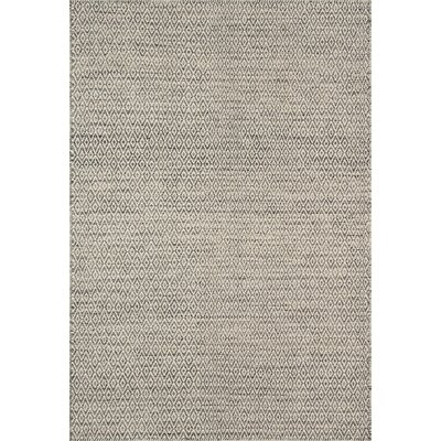 Brooklington Hand-Woven Wool Gray Area Rug Rug Size: 36 x 56