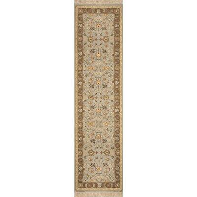 Rickey Hand Woven Wool Aqua/Brown Area Rug Size: Runner 26 x 10