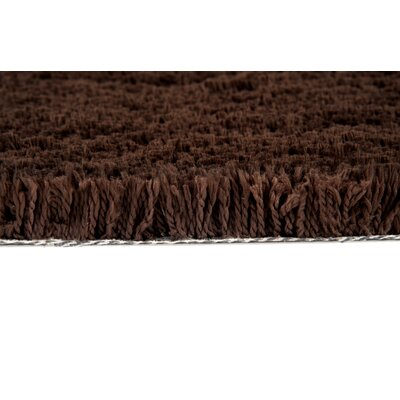 Cloud Chocolate Area Rug Rug Size: 19 x 26