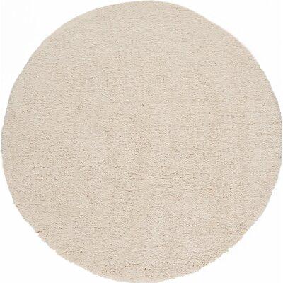 "Cloud Ivory Shag Area Rug Rug Size: 1'9"" x 2'6"" C5000"