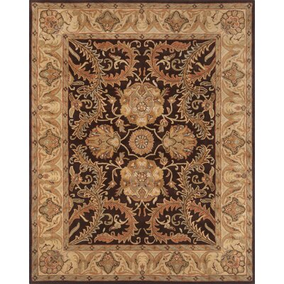 Pardis Brown/Light Gold Rug Rug Size: 79 x 99