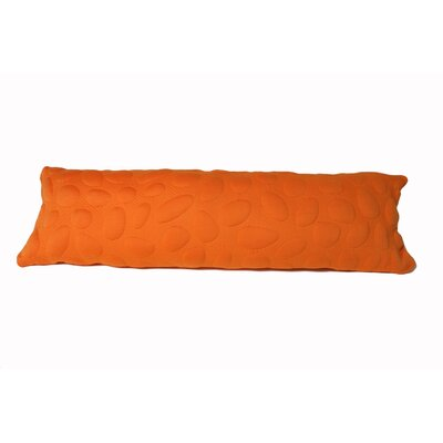 Pebble Memory Foam Body Pillow Color: Poppy