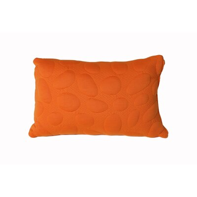 Pebble Memory Foam Standard Pillow Color: Poppy