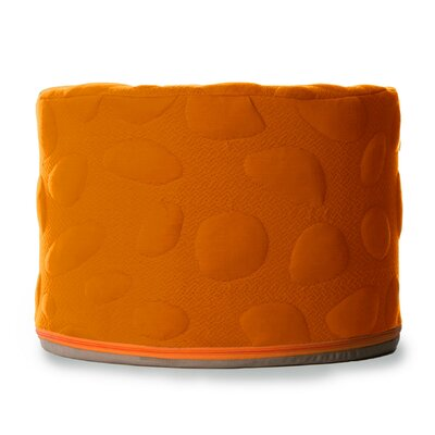Pebble Pouf Ottoman Color: Poppy