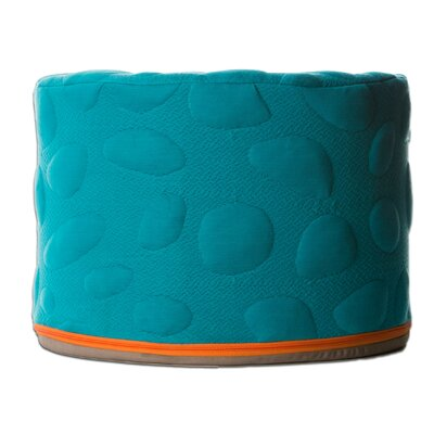 Pebble Pouf Ottoman Color: Peacock