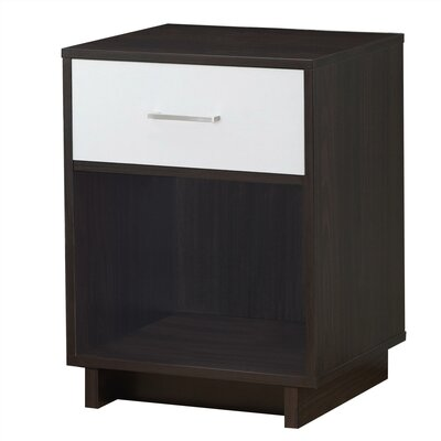 Chappell 1 Drawer Nightstand Finish: Espresso/White