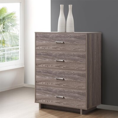 Chicopee Modern 4 Drawer Chest Color: Rustic