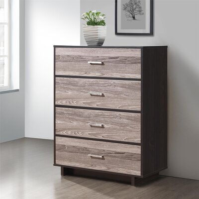 Chicopee 4 Drawer Chest Color: Espresso/Rustic