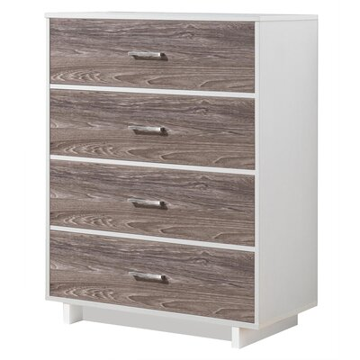 Chappell 4 Drawer Chest Finish: White/Rustic Medium Oak