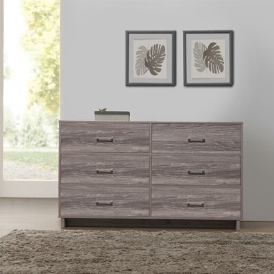 Chicopee Modern 6 Drawer Dresser Color: Rustic